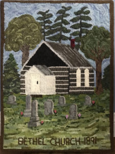 """Minden Bethel Church 1891"", original by Marian England"